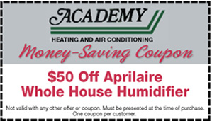 $50 Off Aprilaire Whole House Humidifer