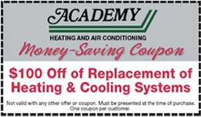 $100 Off of Replacement of Heating & Cooling Systems